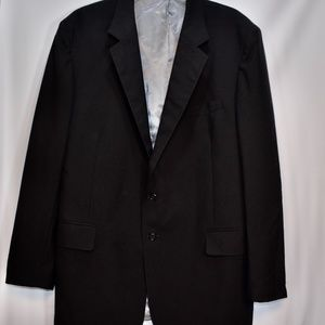 Alexander Shields Black Wool Blazer Jacket 46L